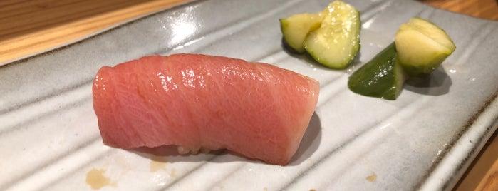 鮨 水魚 is one of 大人が行きたいうまい店2 福岡.