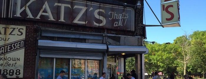 Katz's Delicatessen is one of Lower East Side.