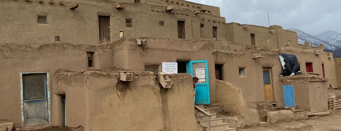 Taos Pueblo Indian Reservation is one of NM.