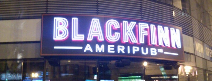 Blackfinn Ameripub is one of Chicago hangouts.