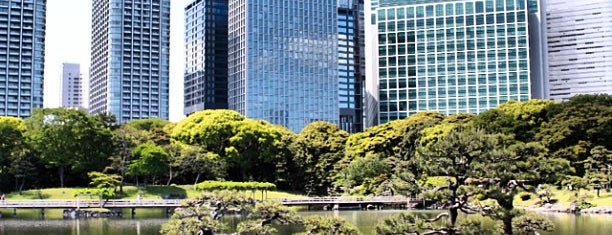Hamarikyu Gardens is one of Japan.