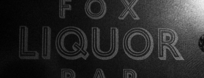 Fox Liquor Bar is one of RDU Baton - Raleigh Favorites.