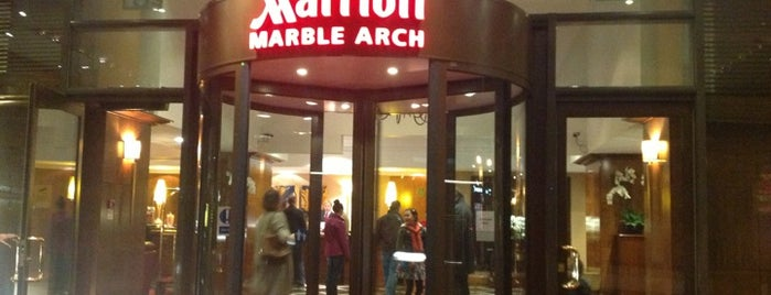 London Marriott Hotel Marble Arch is one of Pelin'in Beğendiği Mekanlar.