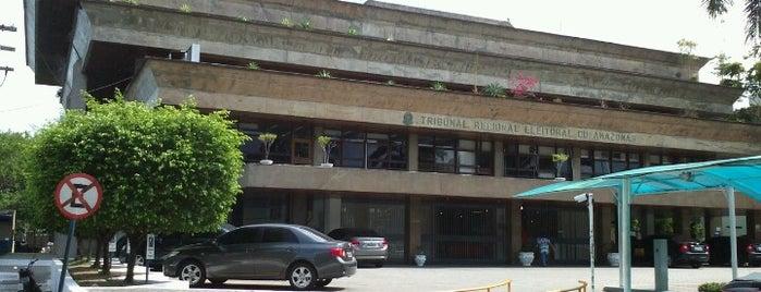 Tribunal Regional Eleitoral do Amazonas is one of Osvaldo'nun Beğendiği Mekanlar.