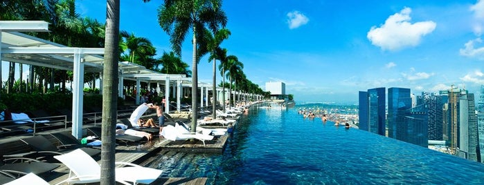 Marina Bay Sands Hotel is one of 50 Best Swimming Pools in the World.
