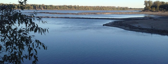 Confluence of the Missouri and Mississippi Rivers is one of St. Louis.