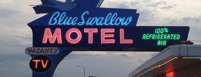 The Blue Swallow Motel is one of Route 66 Roadtrip.