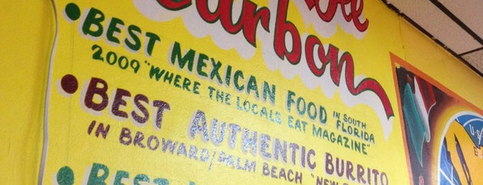 Tacos Al Carbon is one of Tempat yang Disimpan Wendy.
