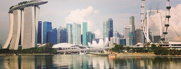 Marina Bay Golf Course is one of Singapore: business while travelling.