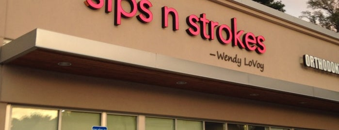 Sips n Strokes is one of Lashondra's Saved Places.