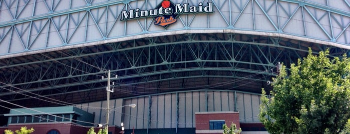 Minute Maid Park is one of Houston.