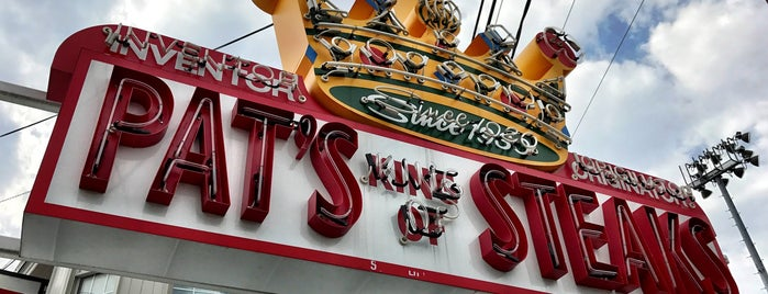 Pat's King of Steaks is one of Favorite Philadelphia Spots.
