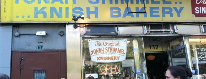Yonah Schimmel Knish Bakery is one of Café & Bfast.