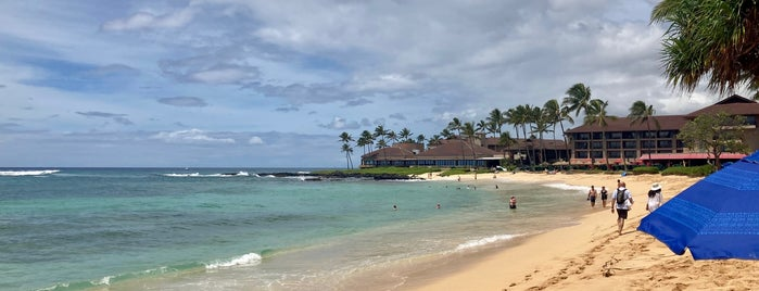 Kiahuna Beach is one of kauai.