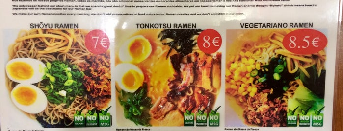 Kokoro Ramen Bar is one of Lisboa.