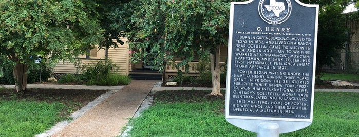 O. Henry House and Museum is one of Austin's Historic Sites.