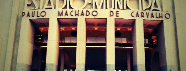Estádio Municipal Paulo Machado de Carvalho (Pacaembu) is one of Bares/Cafés, Restaurantes, Baladas São Paulo e ABC.