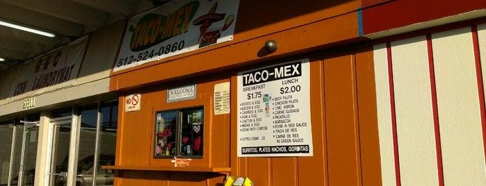 Taco-Mex is one of Austin.