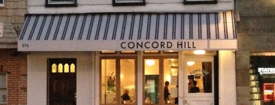 Concord Hill is one of Dessert.