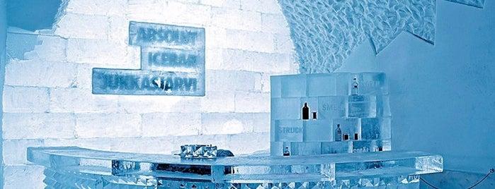 Icebar Jukkasjärvi is one of สถานที่ที่ 4sq SUs Sweden ถูกใจ.