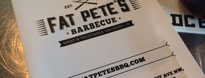 Fat Pete's Barbecue is one of Erin 님이 좋아한 장소.