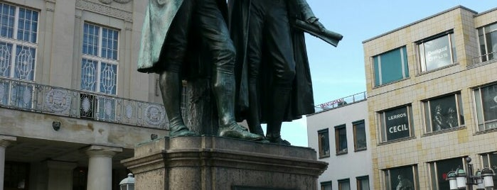 Goethe-Schiller-Denkmal is one of Thuringian Forest.