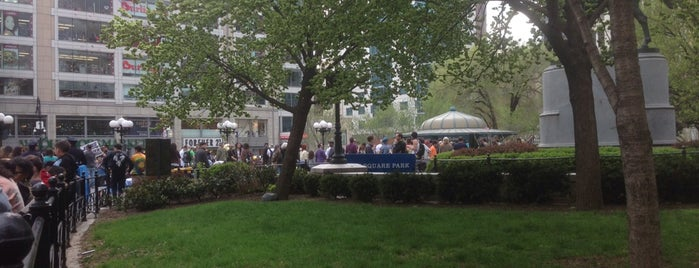 Union Square Park is one of New York.
