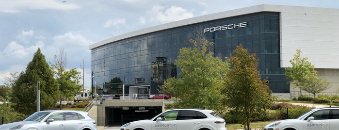 Porsche Cars North America HQ is one of Lieux qui ont plu à Cynthia.