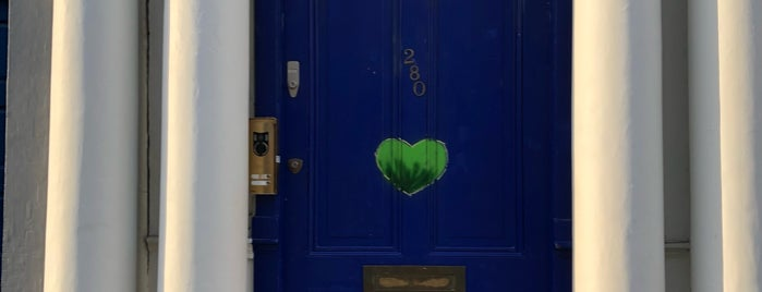 Blue Door from the Movie Notting Hill is one of London Stories.