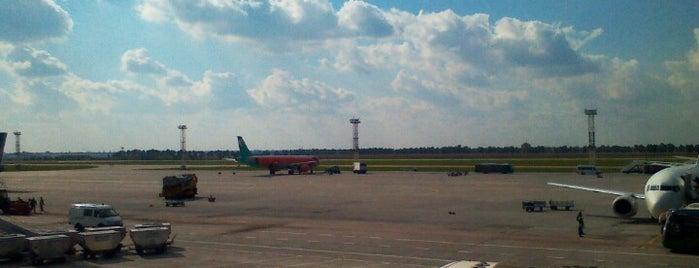 ボルィースピリ国際空港 (KBP) is one of Самые посещаемые точки Киева.