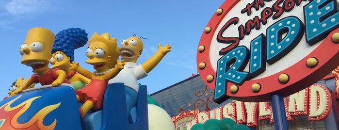 The Simpsons Ride is one of Orte, die Lucas gefallen.
