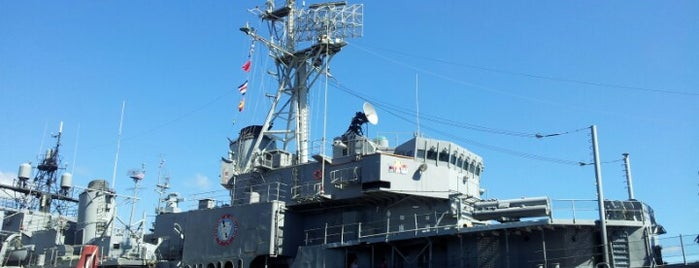 Battleship Cove is one of Arthur's places to visit.
