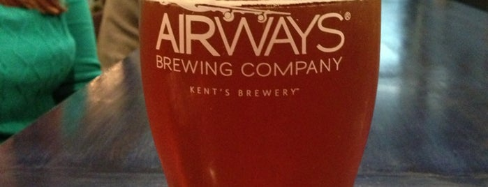 Airways Brewing Beer & Bistro is one of Puget Sound Breweries South.