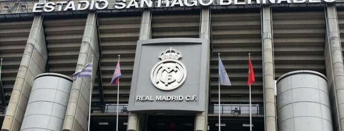 Estadio Santiago Bernabéu is one of Spain BBVA La Liga 2013 - 2014.