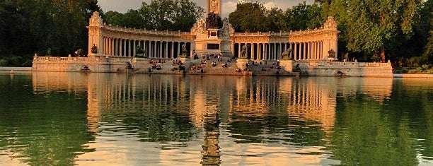 Parque del Retiro is one of Spain / Madrid.