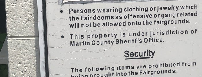 Martin County Fairgrounds is one of Things To Do.