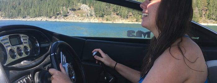 Playing in Lake Tahoe