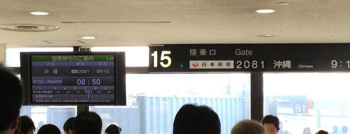 Gate 15 is one of 大阪国際空港(伊丹空港) 搭乗口 ITM gate.