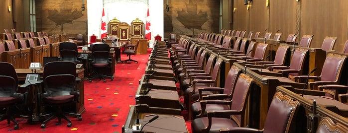 The Senate of Canada is one of Lugares favoritos de Sabrina.