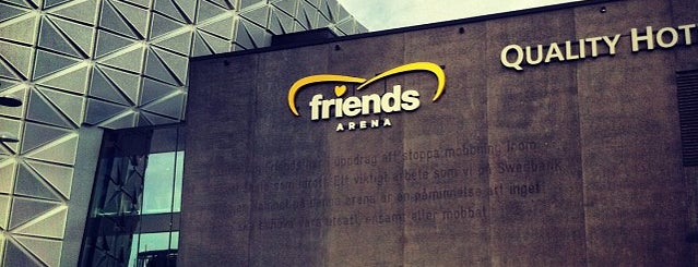 Friends Arena is one of Lieux qui ont plu à Rafael.