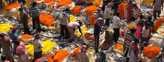 Mullick Ghat Flower Market is one of Kolkata.