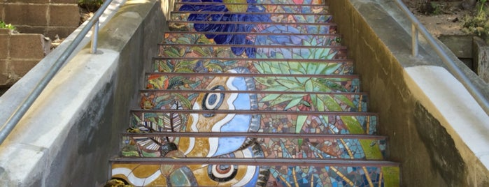 Hidden Garden Mosaic Steps is one of San Francisco Dos.
