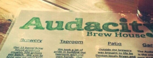 Audacity Brew House is one of DFW Craft Beer.