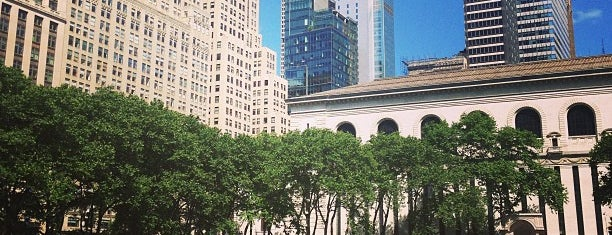 Bryant Park is one of The New Yorker's Level 10 (100%).
