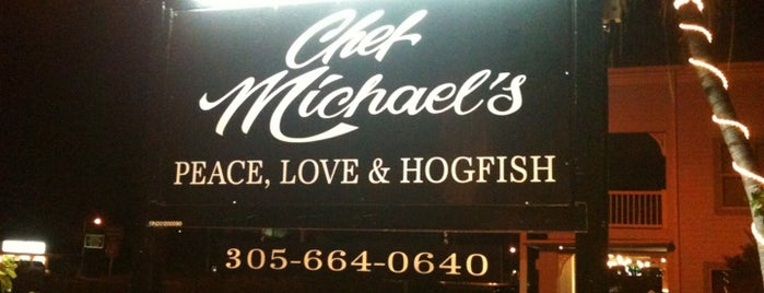 Chef Michael's is one of Islamorada.