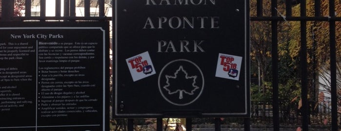 Ramon Aponte Park is one of NY2015.