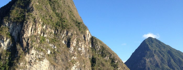 Les Pitons is one of St. Lucia.