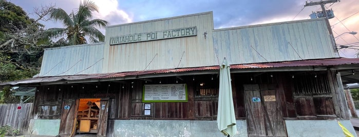Waiahole Poi Factory is one of Nice gems outside.