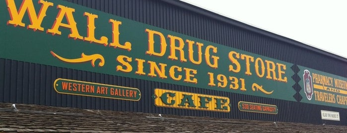 Wall Drug is one of West Coast Sites.