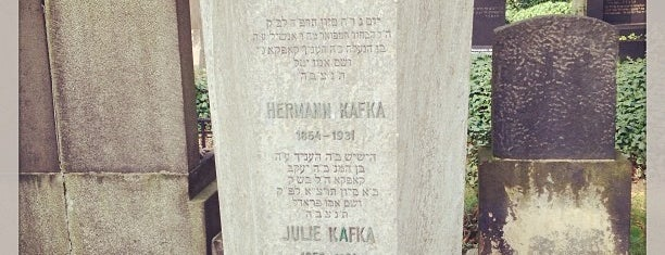 Franz Kafka Grave is one of Prag.